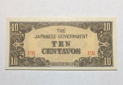 Japanese Government 10 centavos bill Foreign Paper Money Banknote Unc