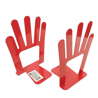 Red Hand Nonskid Bookends Metal  Bookend for Stationery Home and Office