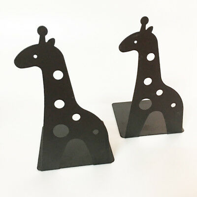 1pair Giraff Book Holder Stand Bookrest Bookends For Home Office Library School