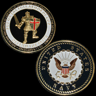 Armor High Relief Eagle Navy Challenge Coin Gold Commemorative Coin Collection