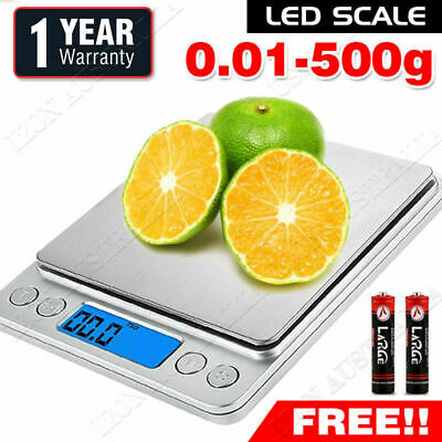 500g/0.01g Digital Kitchen Scales Food Electronic LCD Weight Postal