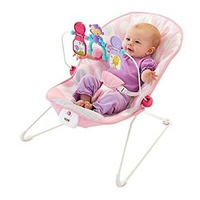 Baby Rock n Play Sleeper And Playtime Seat Newborn Pink Bouncer Soft Toddler Bed