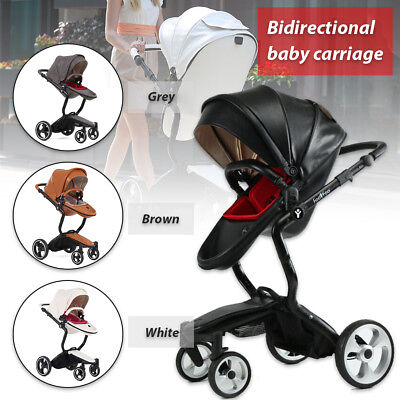 Foldable Elastic Baby 2 in 1 Combi Stroller Buggy Pram Travel Child Pushchair