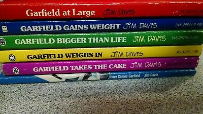 Garfield books lot 1-5 and Here Comes Garfield. First Editions 1980-1982