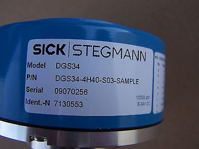 Sick Stegmann DGS34-4H40-SO3 Sample-10000 lines with connector and cable