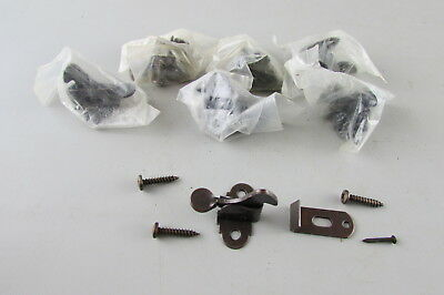Lot of 7  Cabinet catch jelly cupboard latch parts old antique
