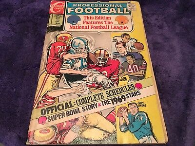 Charlton PROFESSIONAL FOOTBALL #1  JOHNNY UNITAS! 1969 PLAYERS & stats