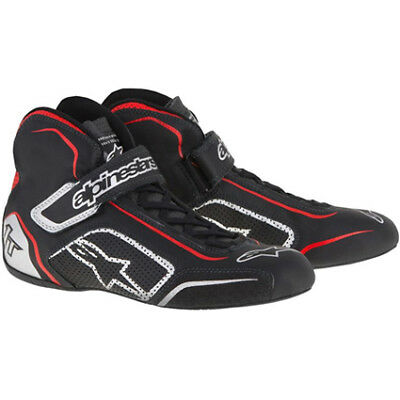 CLEARANCE!  Alpinestars Tech 1-T Race/Rally Boots in Black/Silver size 40 UK 6.5