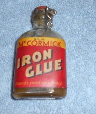 Vintage  - McCormick Iron Glue Glass Bottle