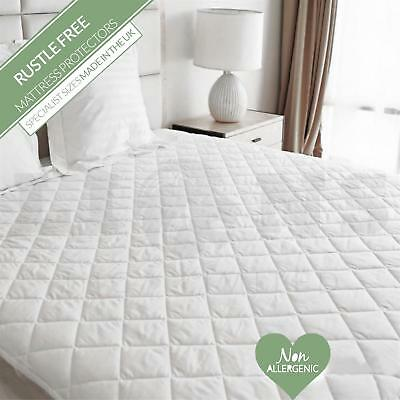 Extra Deep Fitted Quilted Mattress Protector Bed Cover Sheet Polycotton