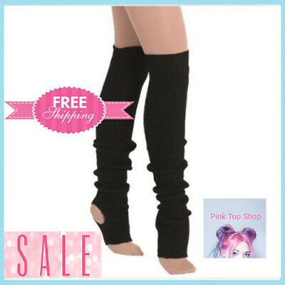 Women's Over Knee Socks Leg warmers High Footless Dance Winter Leggings Thigh