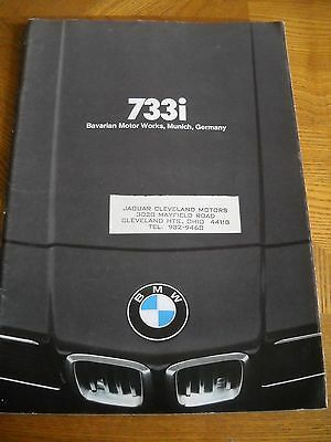 733i BMW Salesroom Brochure Pamplet Tri Fold Pull out Color Pictures