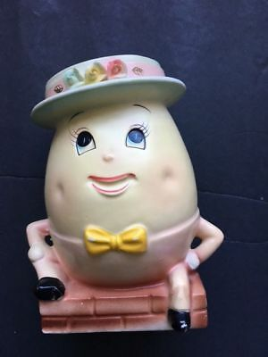 Antique Hand Painted Rubens Original Humpty Dumpty Bank 6714 EUC Japan