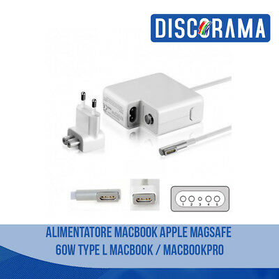 Alimentatore Mac Apple Magsafe 1 60W Macbook / Air E Pro Caricabatterie Laptop