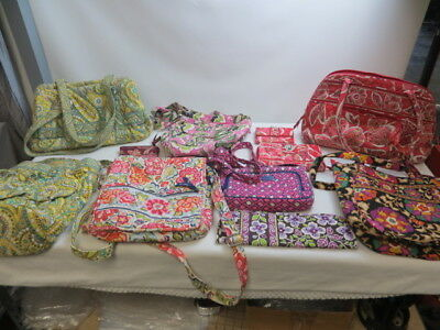 11 Piece Various Vera Bradley Lot/Purses/Wallets/Hot Iron Cover/Pre-Owned Wear