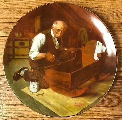 Norman Rockwell Grandpa's Gift Plate by Edwin M. Knowles China Co.