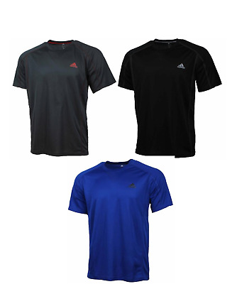 Adidas Mens Short Sleeve Workout Poly Climalite T-Shirt NWT