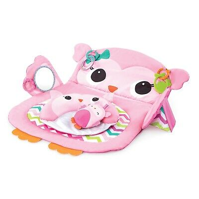 Kids II Prop & Play Tummy Time Owl Mat in Pink