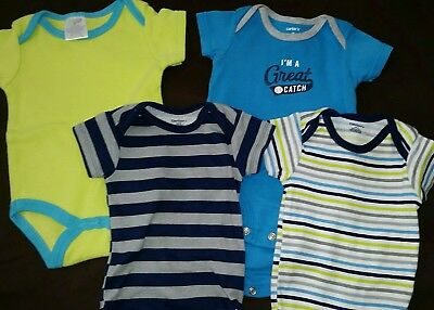 baby boy 4 piece onesie lot size 3 months