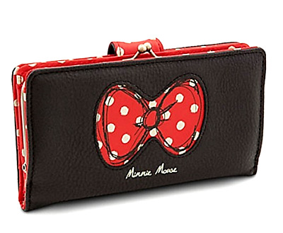 New Authentic Disney Parks✿ Minnie Mouse Bow Wallet Iconic Red Bow w/ Polka Dots