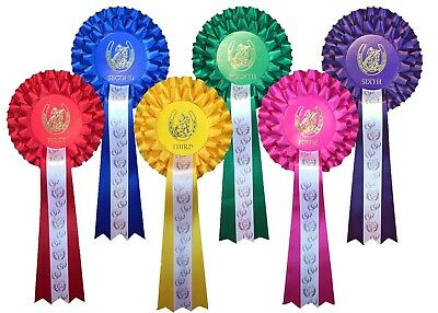 dog shows etc. Rosettes 3 tier 1st to 6th place Horse