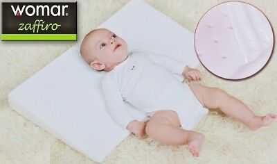 Baby Wedge Pillow AntiReflux Colic Cushion For Pram Crib Cot Bed Flat Head 40x36