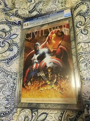 RARE! Civil War #1 CGC 9.8 Aspen Comic Exclusive Variant (September 2015 Marvel)