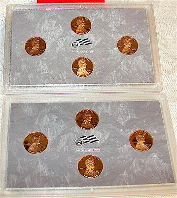 2009 S Lincoln Cent Proof 4 Coin Bicentennial Set ---2 SETS One Money--8 Coins