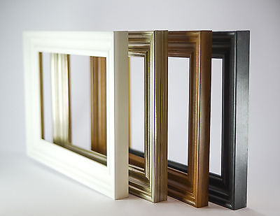 Swept Pewter And Walnut Wooden Effect All Size Poster Pictute Photo Frames