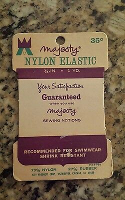 Advertising Majesty Card Nylon Elastic Vintage