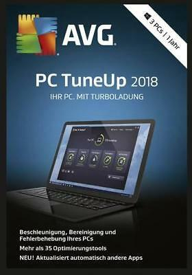 AVG PC TuneUp 2018, 3 PC, 1 Jahr, Download