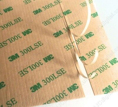 50pcs 3M 9495LE 300LSE 100mm x 2mm Clear Double Sided Adhesive Tape Phone Repair