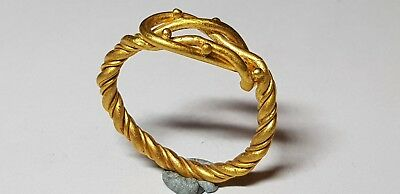 Greek Gold Ring with Hercules Knot. 4th-2nd century BC
