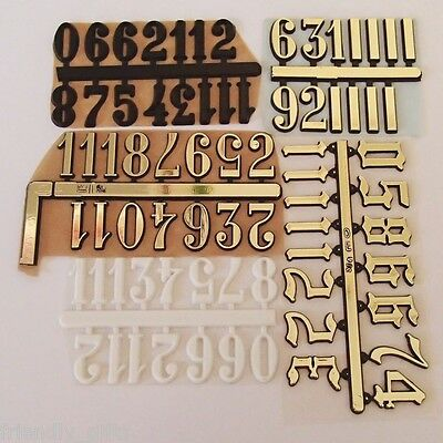 18mm Adhesive CLOCK NUMBERS Arabic Numerals For Clock Making, Clock Dials