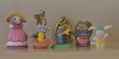 Hallmark EASTER Ornaments and Merry Miniatures Figurines Figure Lot / MINT