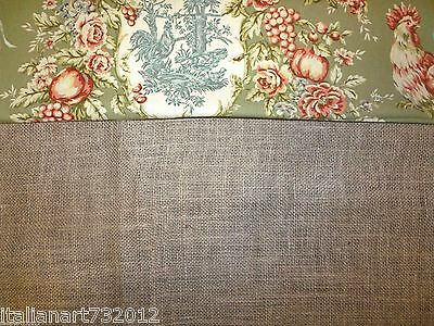 Custom Made To Order French Country Burlap And Toile Valance