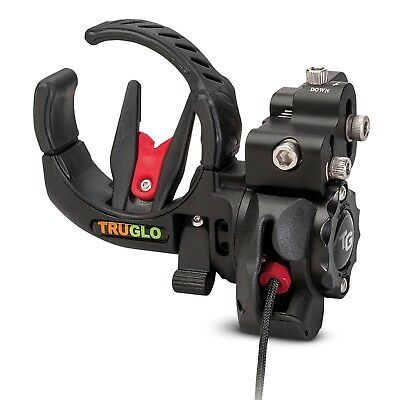 Truglo Lock-Fire Drop-Away Arrow Rest Micro Black Adjustable Archery Bow Hunting