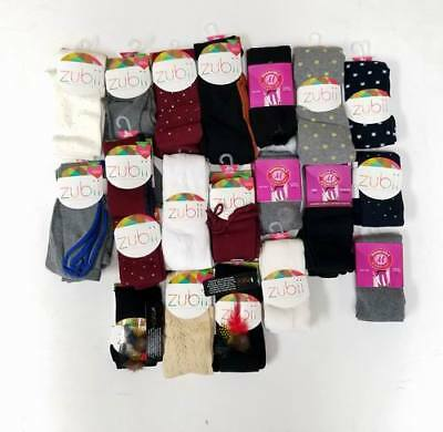 Wholesale Lot of 48 Pieces -Zubii Girls Kids Boutique Fashion Tights Asst. Sizes