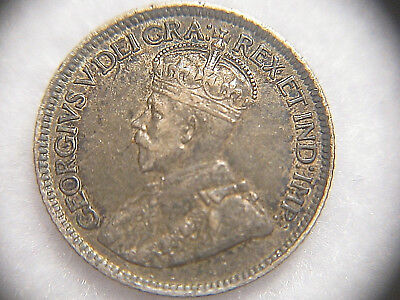 Canada 1913 10 Cents Sterling Silver Coin EF