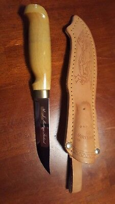 Marttiini Lynx 121 420 Stainless Curly Birch Handle Fixed Blade Knife 121010