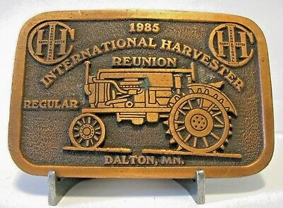 IH International Harvester 1985 Reunion Farmall Regular Tractor Belt Buckle MN