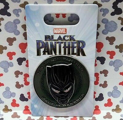 The Black Panther Made In Wakanda Pin 2018 Disney Marvel 3D Face Mask Emblem OE