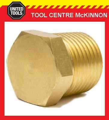 """1/4"""" Bsp Brass Solid Hex Male Plug End Air Fitting"""