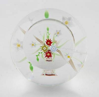 vintage Caithness lampwork floral limited edition 'Still Life' glass paperweight