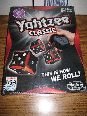 Sealed Hasbro Gaming Yahtzee Classic Board Game dice 2012 Edition made in USA