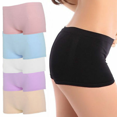 AU Women Seamless Workout Stretch Shorts Spandex Mini Safety Bike Dance Panties