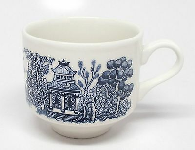 Churchill - Blue Willow - Large Flat Cup(s) - Made in England