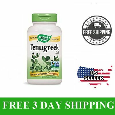 Natures Way Fenugreek Seed 610mg Vegetarian Capsules 180ea Dietary Supplement