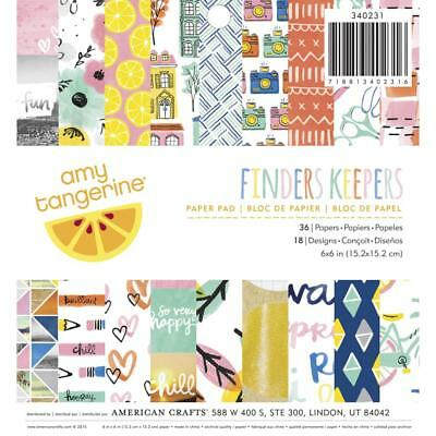 NEW American Crafts Amy Tangerine Finders Keepers 36 Page Paper Pad By Spotlight