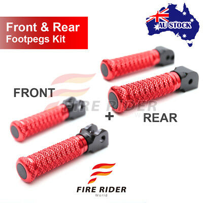 For Yamaha MT-09 Tracer 15-16 Front + Rear Pair Red CNC Pole Footpegs
